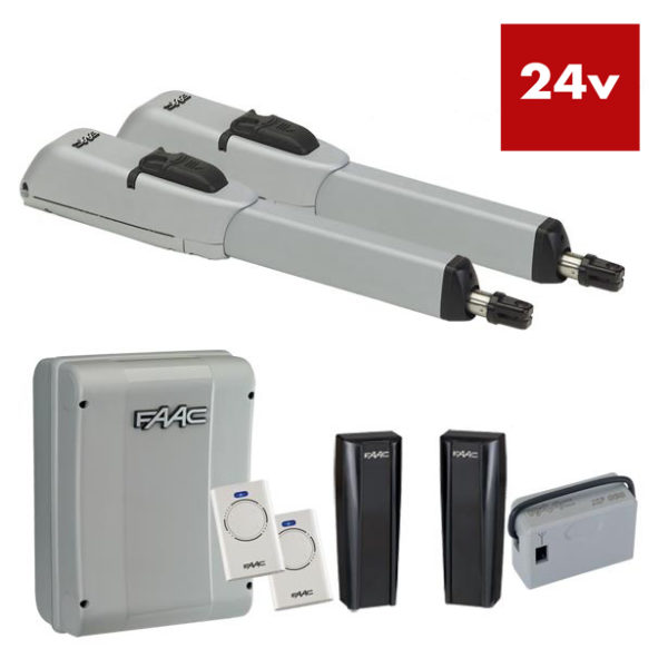 FAAC 415LLS 24v Double Electric Gate Arm Kit