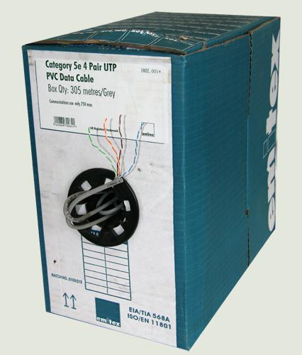 300m Drum of Multi-Core CAT-5 Cable
