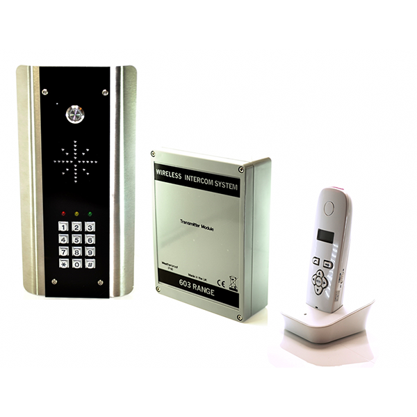 AES 603-ABK DECT Audio Wireless Gate Intercom With Keypad