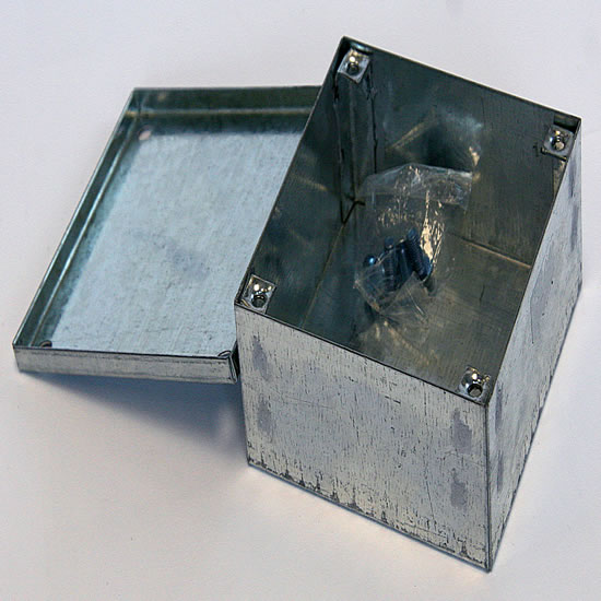 Galvanised Junction Box Inc. Cover (100 x 100 x 50mm)