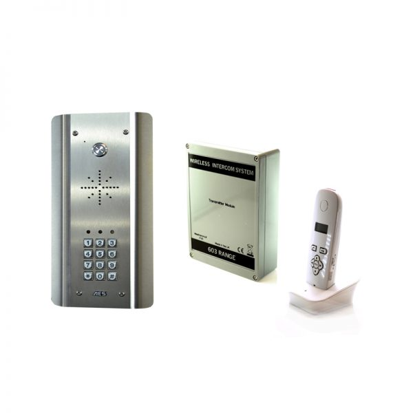 603-ASK DECT Audio Wireless Gate Intercom With Keypad (Stainless Steel)