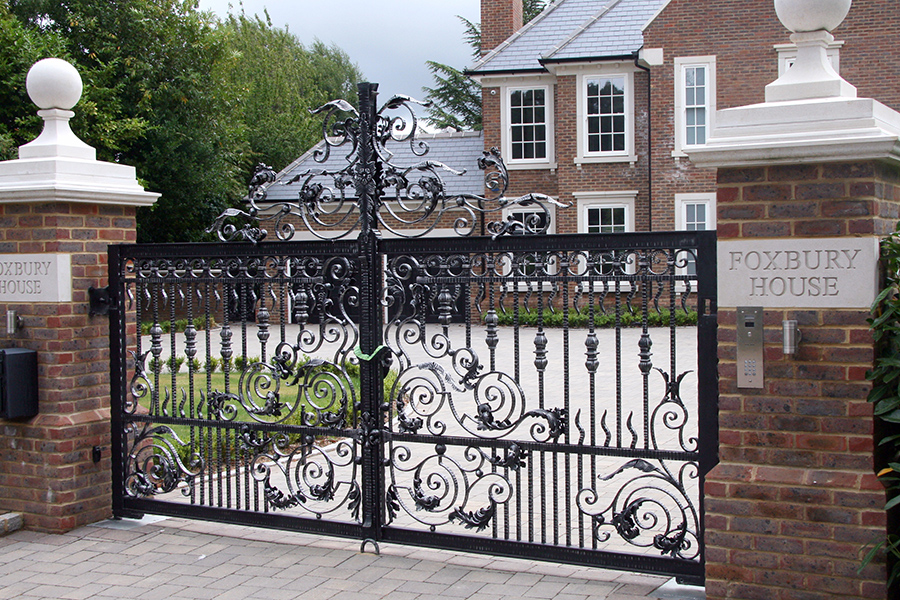 electric gate house