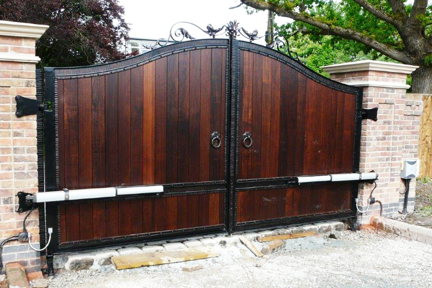 wooden automatic gate